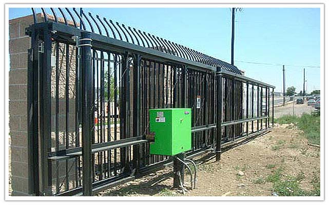 Commercial security fence and automated gates serving greeley