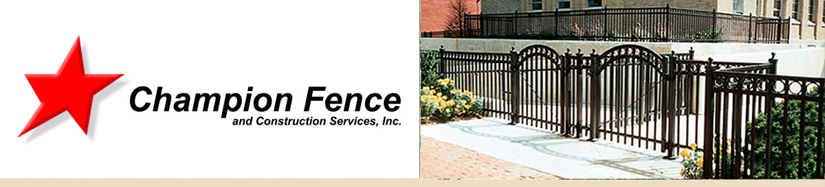 Commercial ornamental iron fence in Aurora