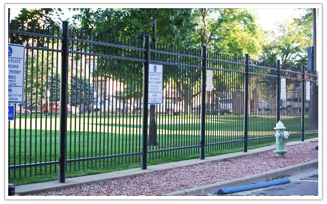 Commercial ornamental iron fence company in Aurora