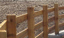 Aurora commercial post & rail fence