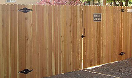 Aurora commercial wood Privacy fence